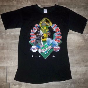 Vtg 90s Salem Twins V Atlanta T-shirt Tee Large
